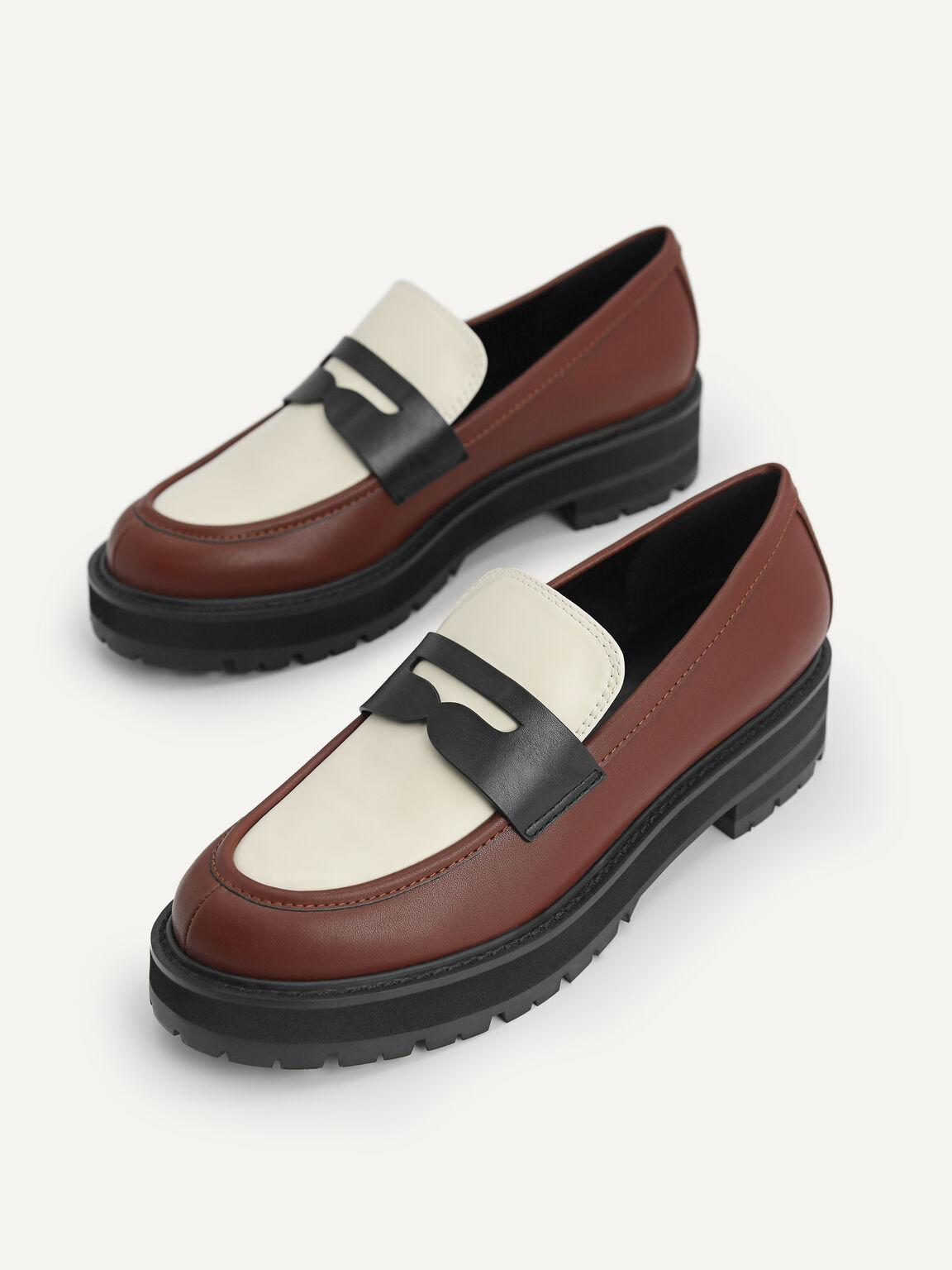 Platform Penny Loafers, Multi, hi-res
