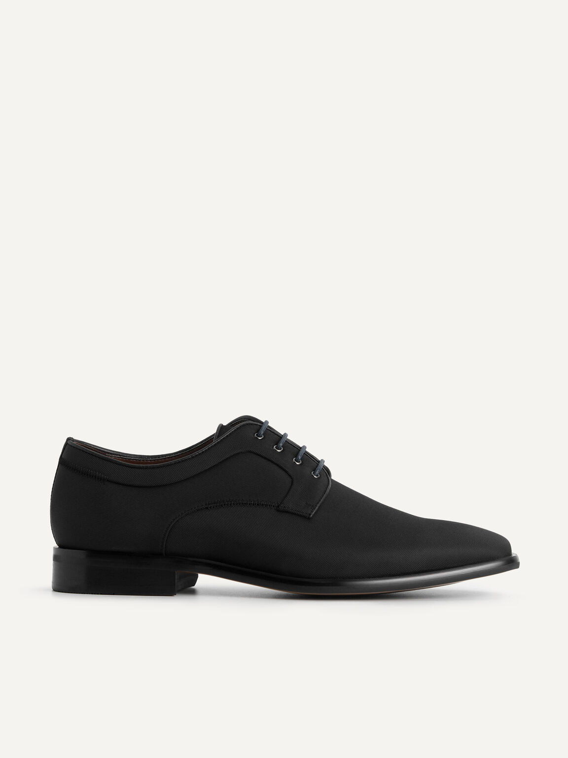 Pointed Square Toe Derby Shoes, Black, hi-res