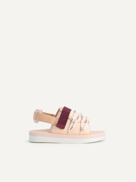 Colourblock Cord Sandals, Nude, hi-res