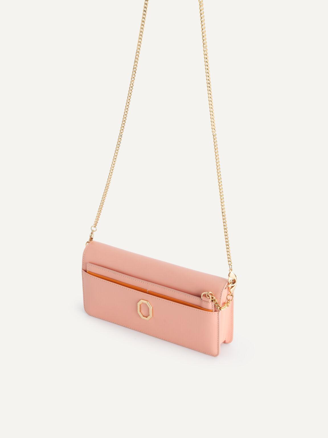 Long Leather Wallet, Blush, hi-res