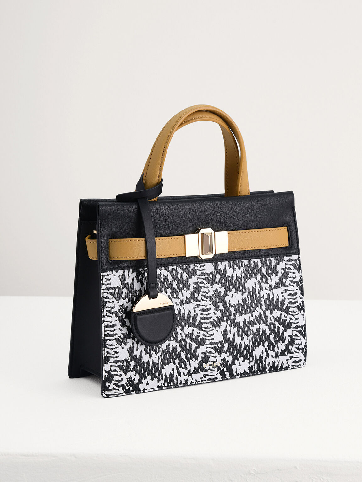 Leather Small Top Handle Bag, Multi, hi-res