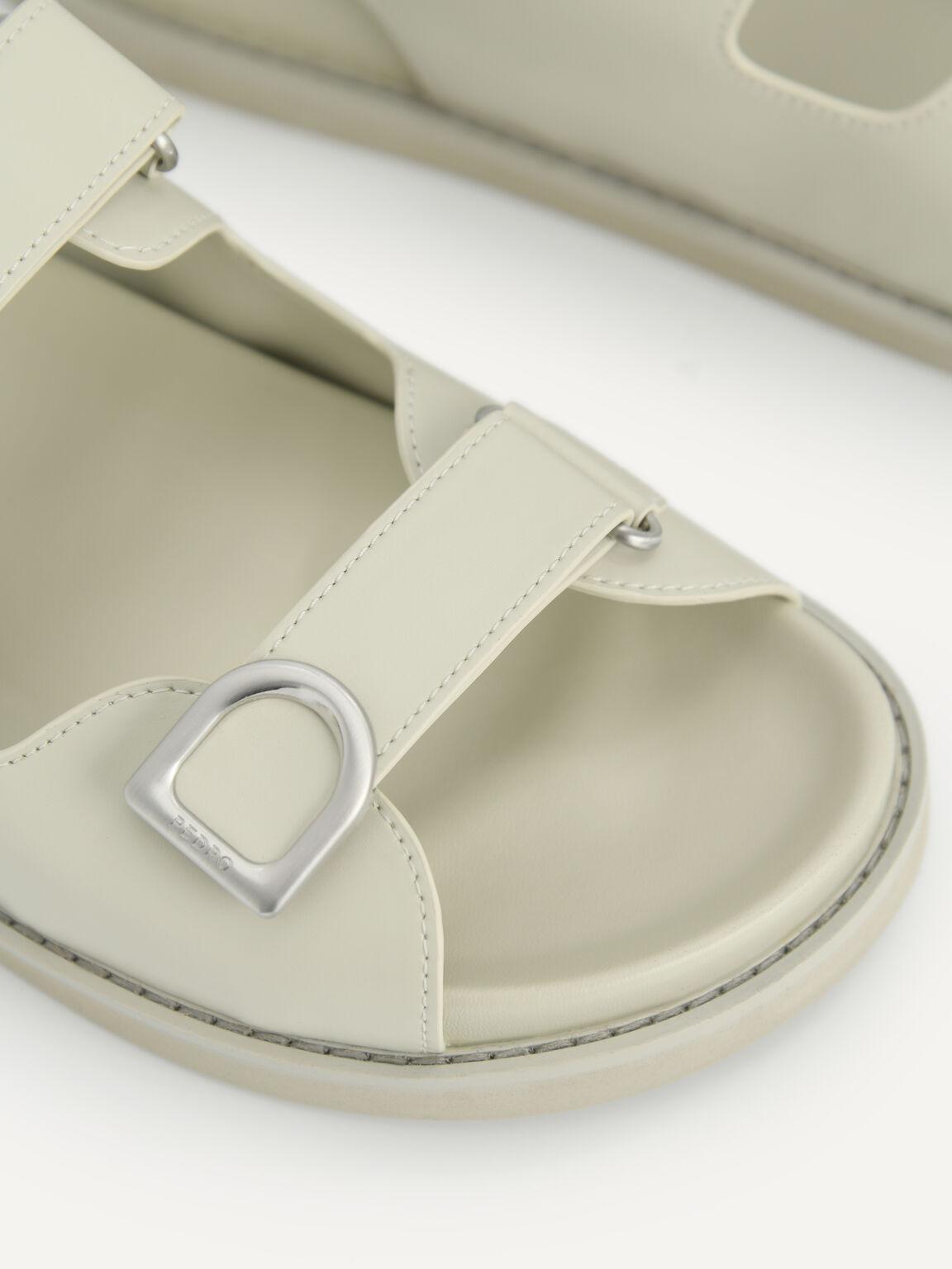 Double Strap Platform Sandals, Light Green, hi-res