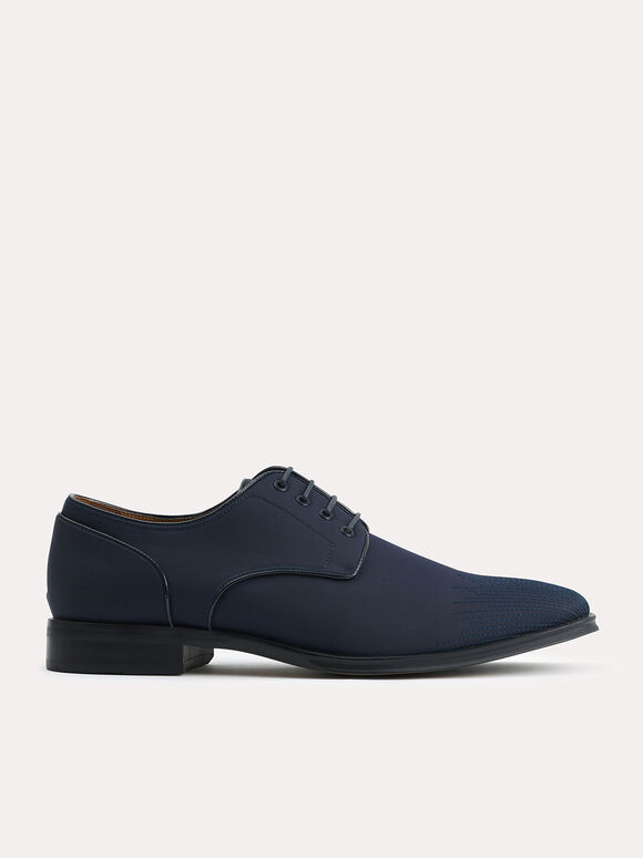 Nylon Derby Shoes, Navy, hi-res