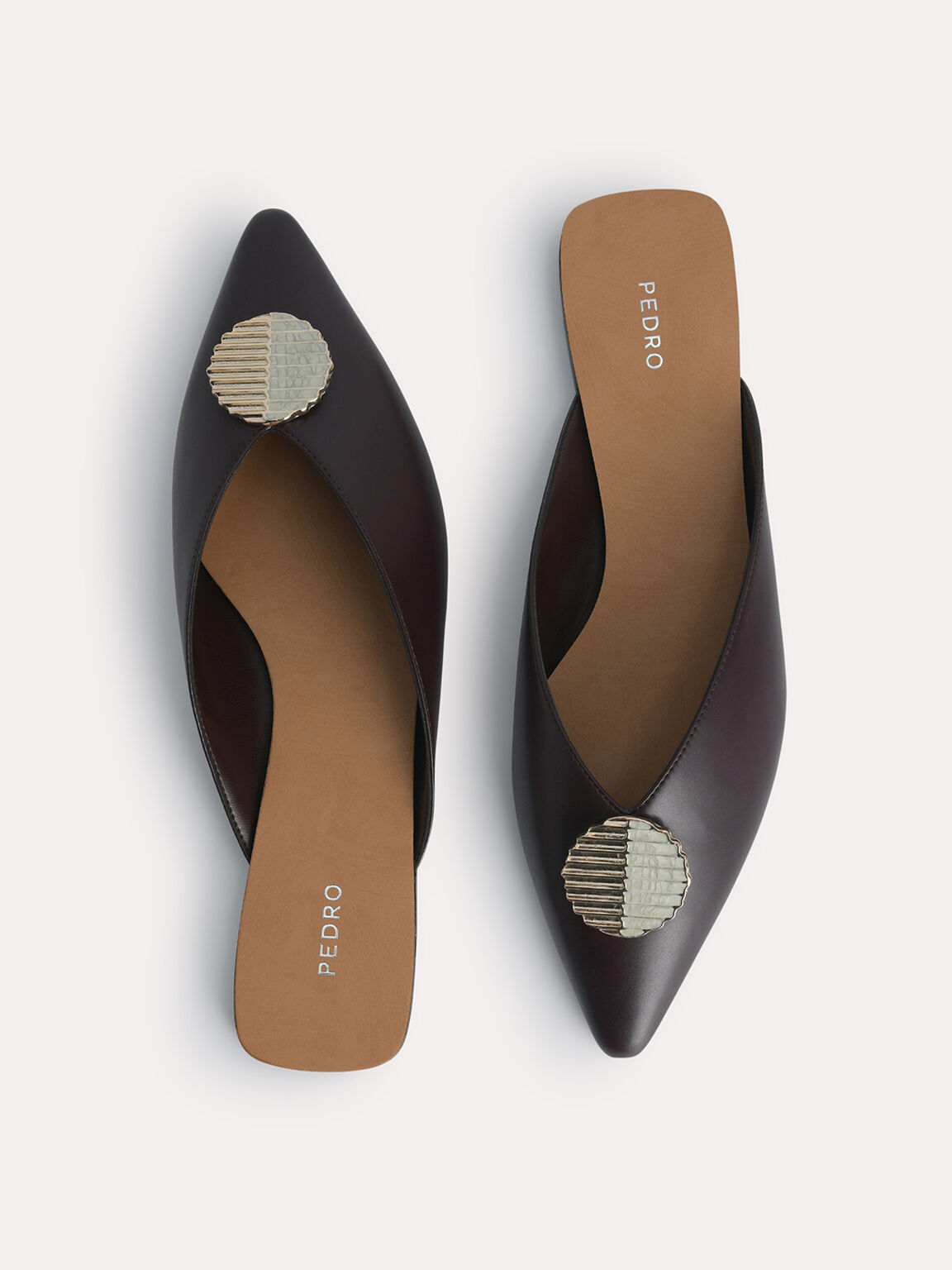 Embellished Mules, Dark Brown, hi-res