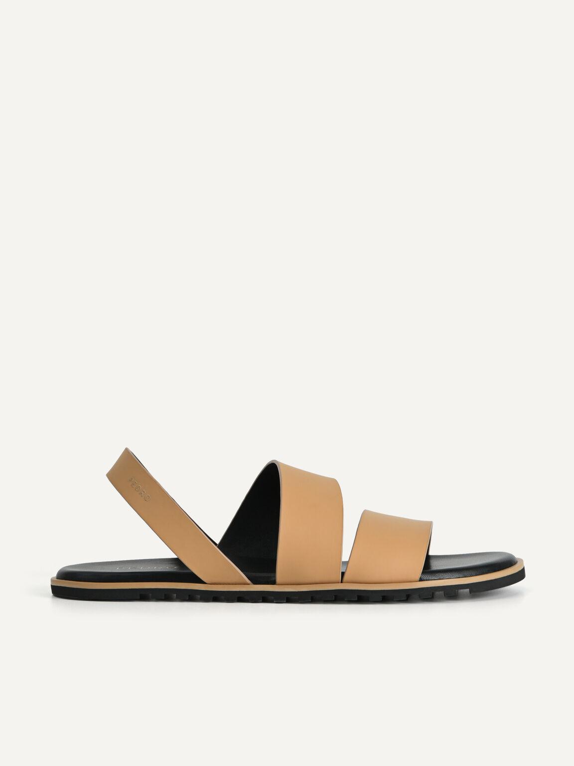 Double Strap Slingback Sandals, Sand, hi-res