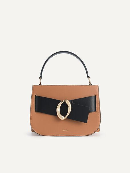 Leather Top Handle Bag, Multi2, hi-res