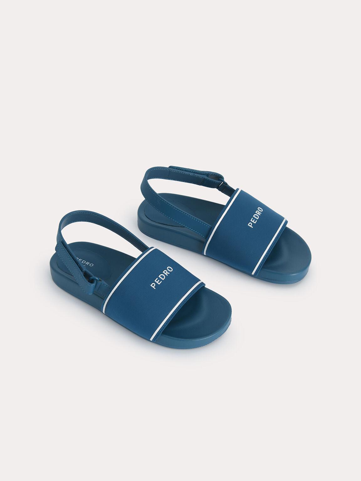 Casual Sandals, Teal, hi-res
