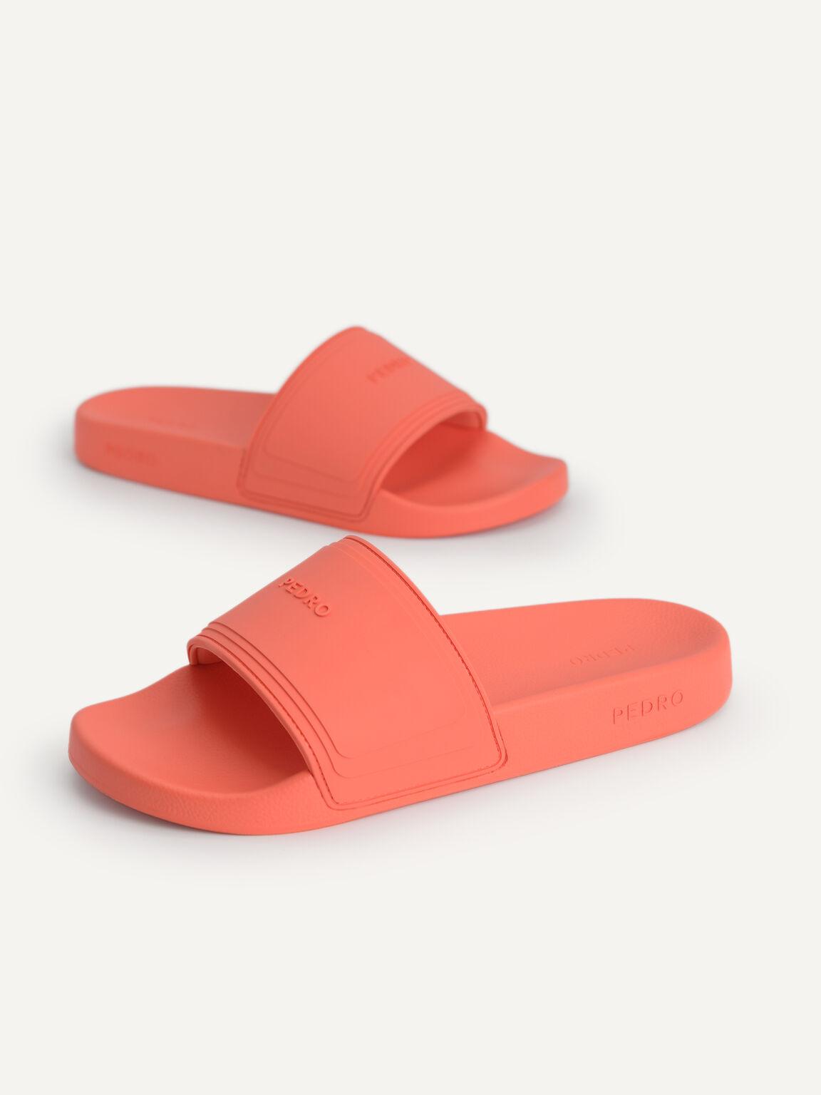 Casual Slides, Coral, hi-res