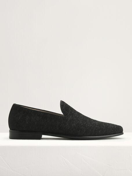 Textured Loafers, Black, hi-res