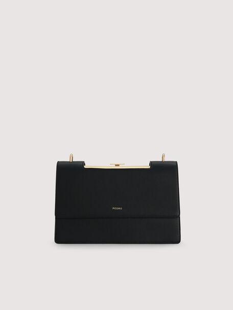 Boxy Shoulder Bag, Black, hi-res
