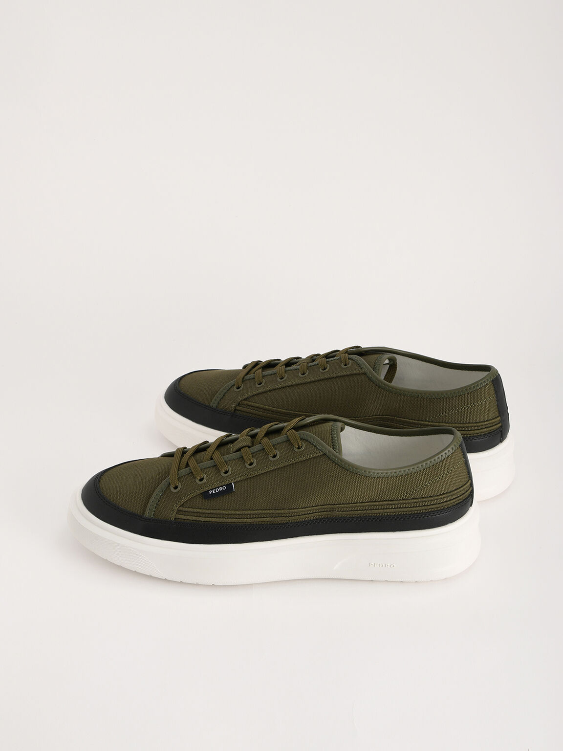 Sustainable Court Sneakers, Olive, hi-res