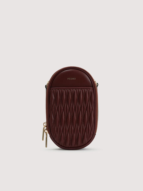 Mini Quilted Shoulder Bag, Mahogany, hi-res