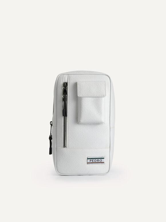Utilitarian Sling Pouch, White, hi-res
