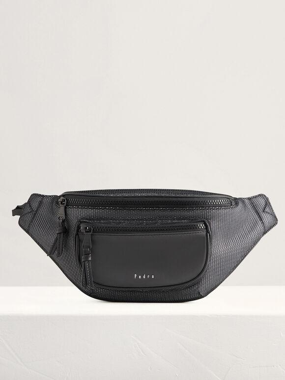 Casual Belt Bag, Black, hi-res