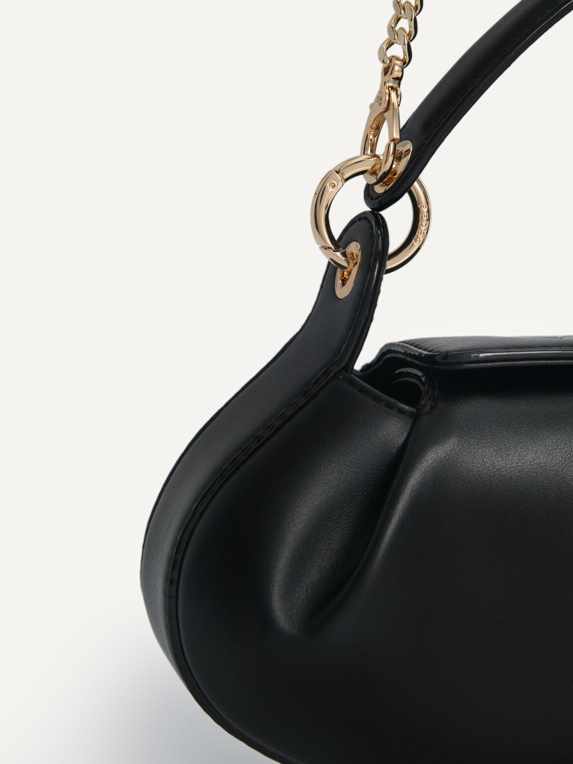 Oval Shoulder Bag, Black, hi-res
