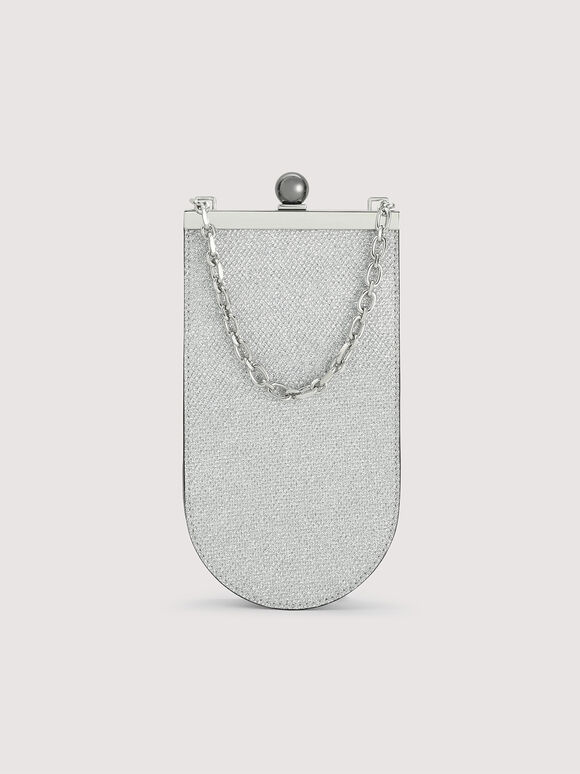 Mini Glitter Bucket Bag, Silver, hi-res