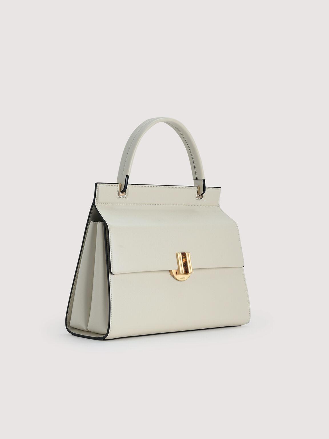 Structured Handbag, Chalk, hi-res