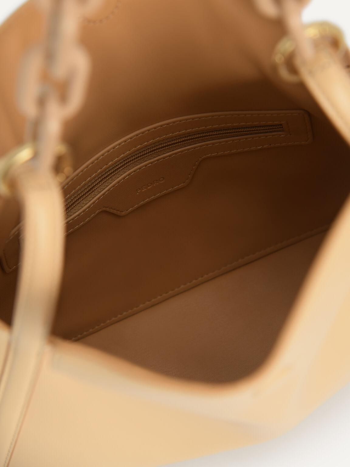 Chain Shoulder Bag, Nude, hi-res