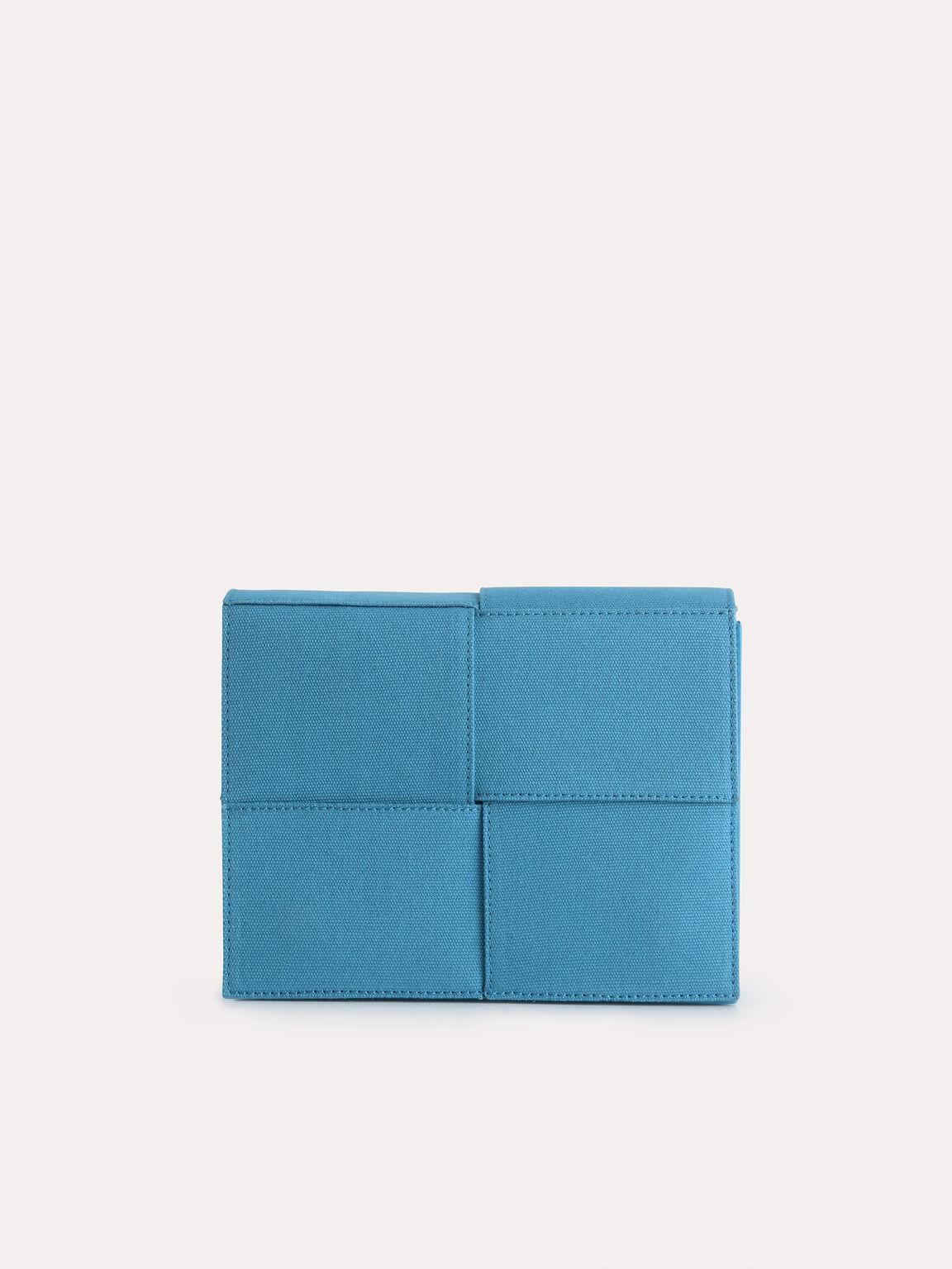 rePEDRO Organic Cotton Mini Boxy Shoulder Bag, Blue, hi-res