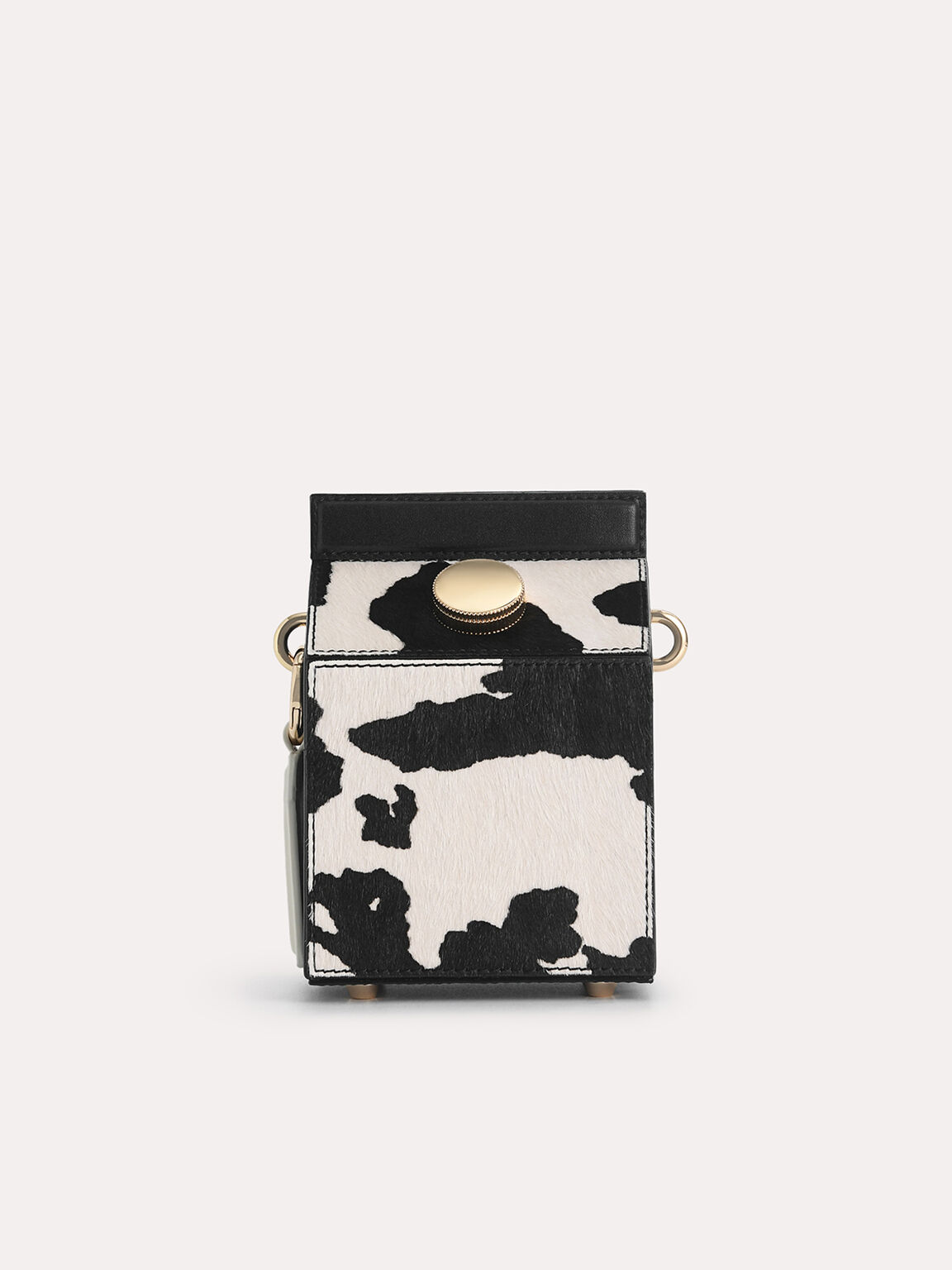Leather Carton Bag, Multi, hi-res