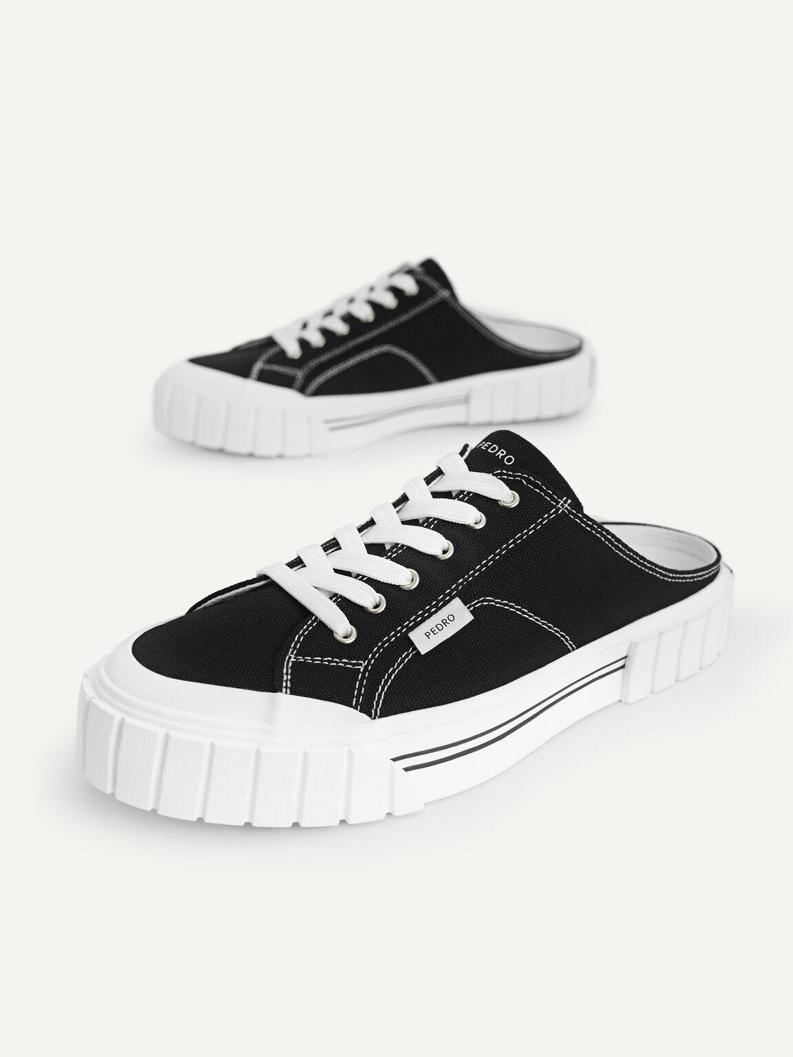 Canvas Slip-On Sneakers, Black, hi-res