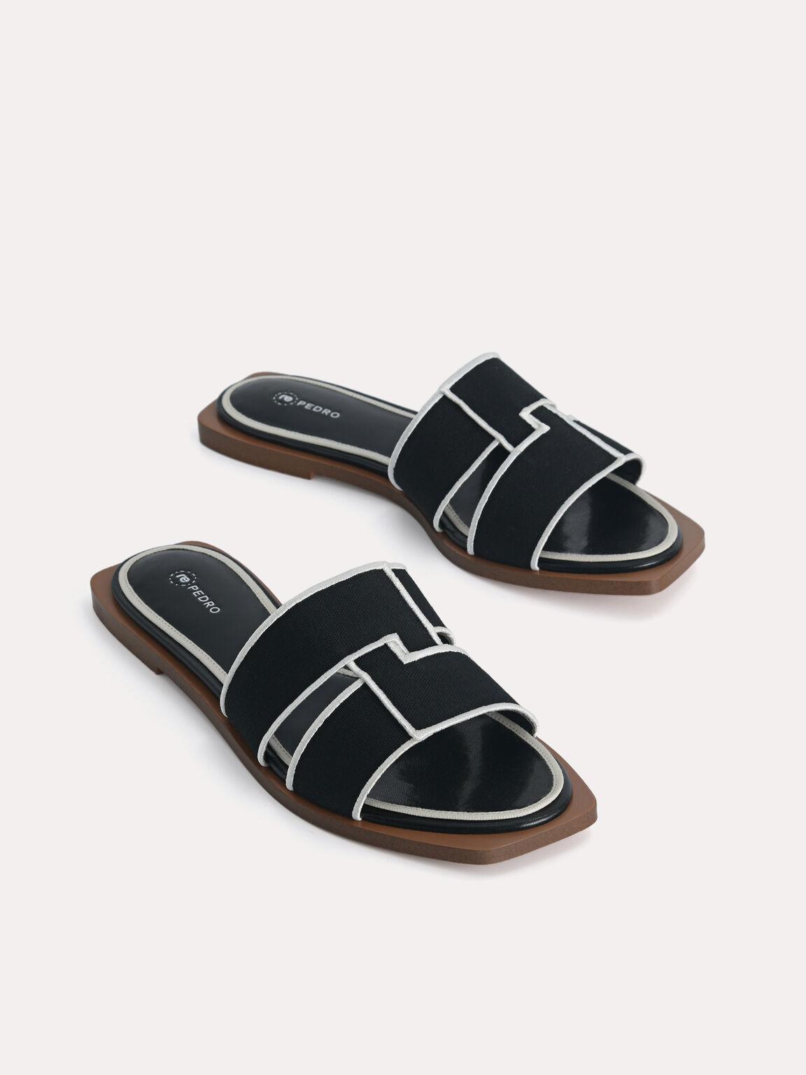 rePEDRO Cross-Strap Sandals, Black, hi-res