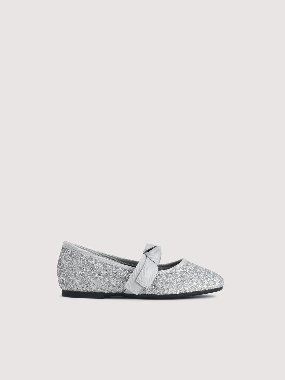 Glitter Ballerina Flats, Silver, hi-res