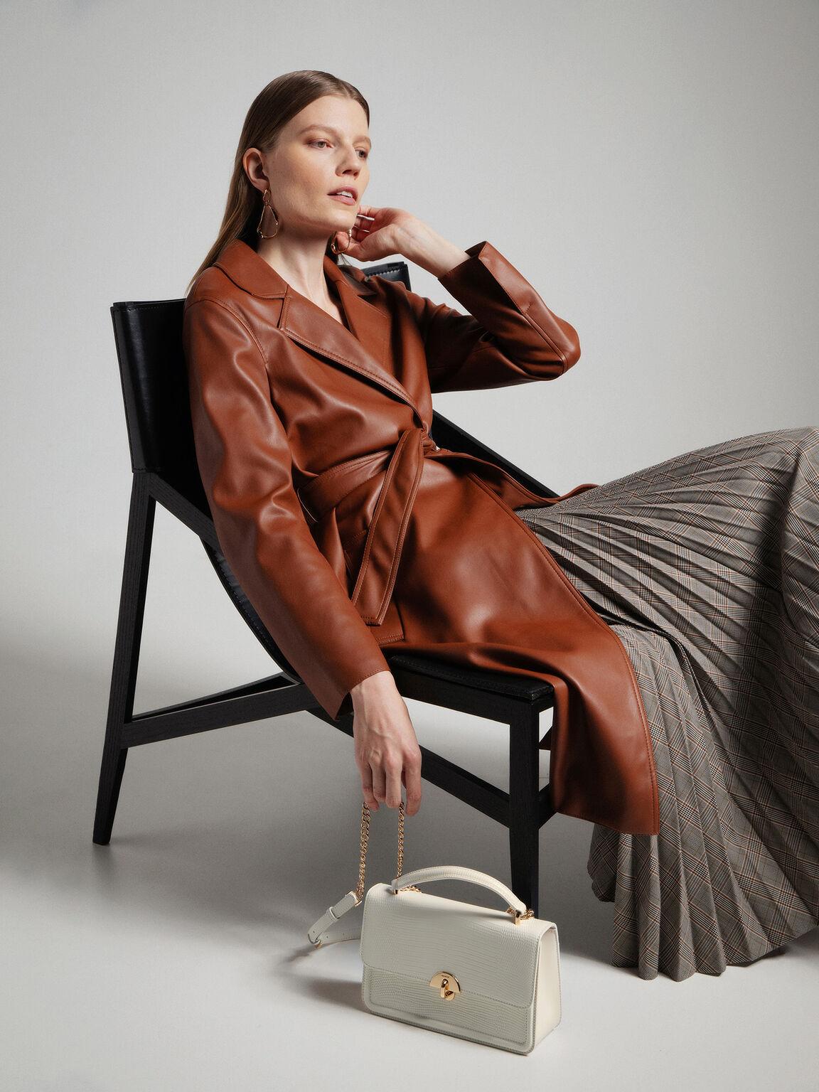 Embossed Leather Shoulder Bag, Chalk, hi-res