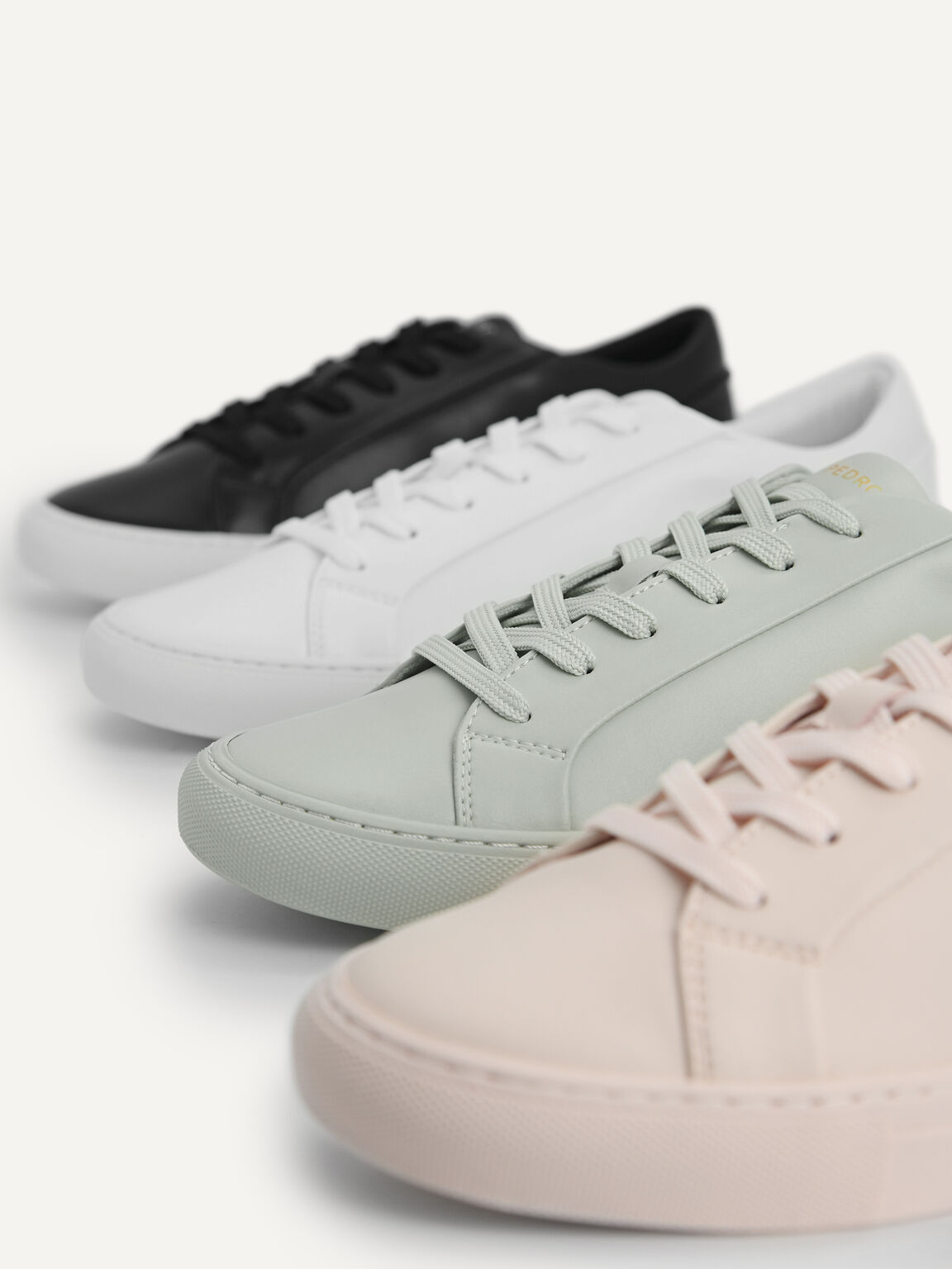 Atlas Lace-up Sneakers, White, hi-res