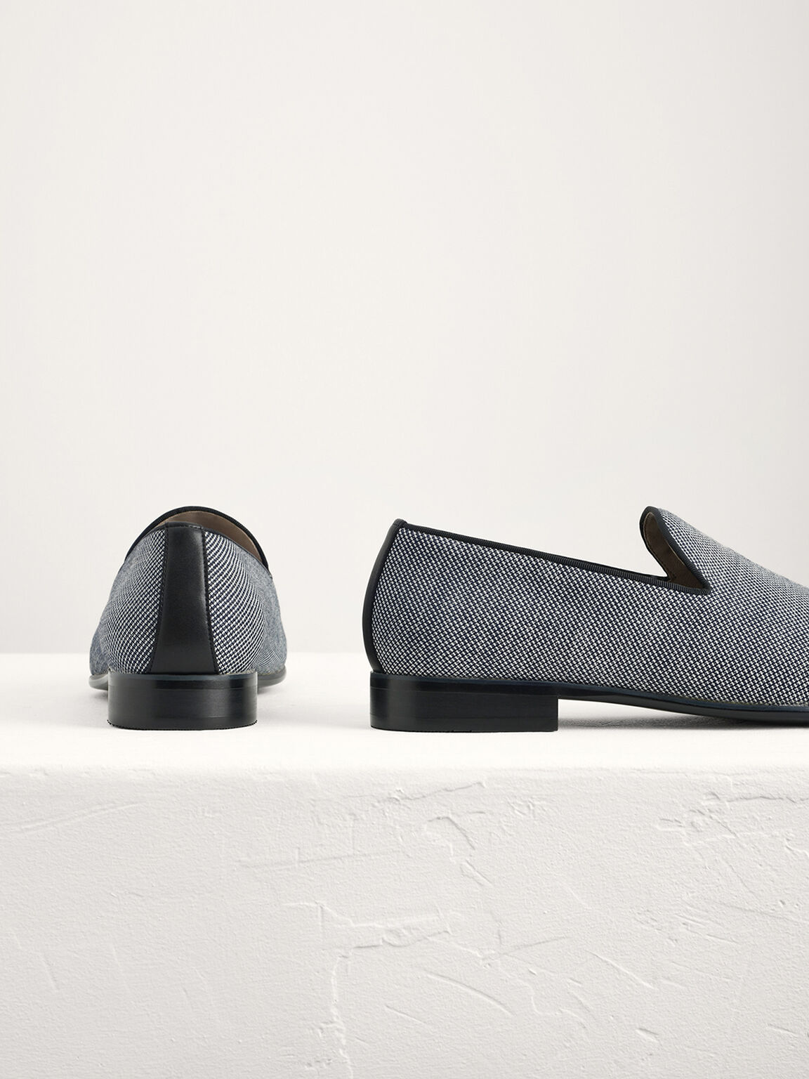 Textured Loafers, Navy, hi-res