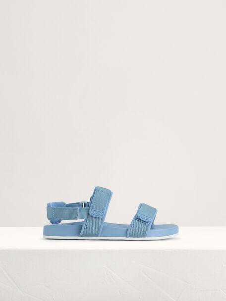 Monochrome Sandals, Blue, hi-res