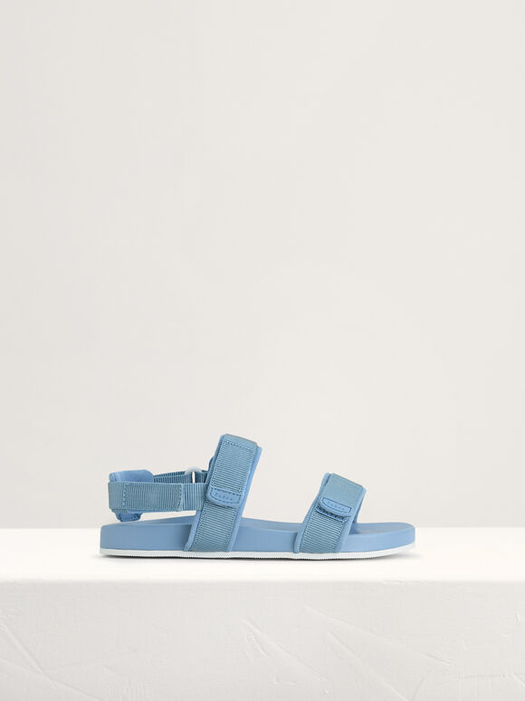 Monochrome Sandals, Blue, hi-res