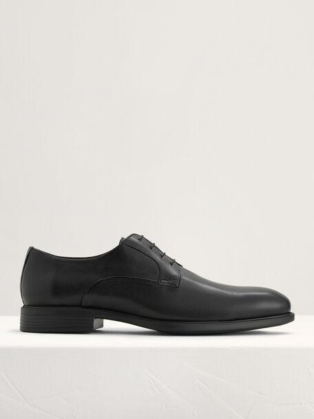 Lightweight Leather Derby Shoes, Black, hi-res