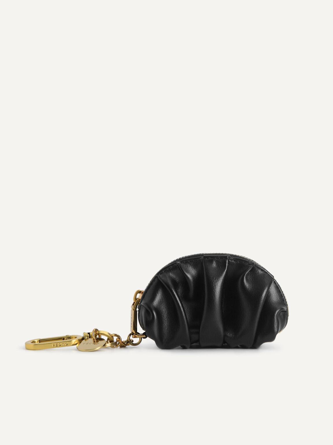 Mini Draped Pouch, Black, hi-res
