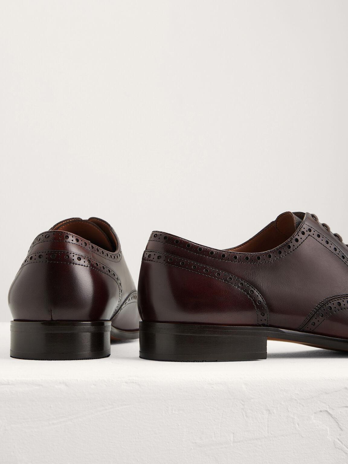 Leather Brogues, Dark Brown, hi-res