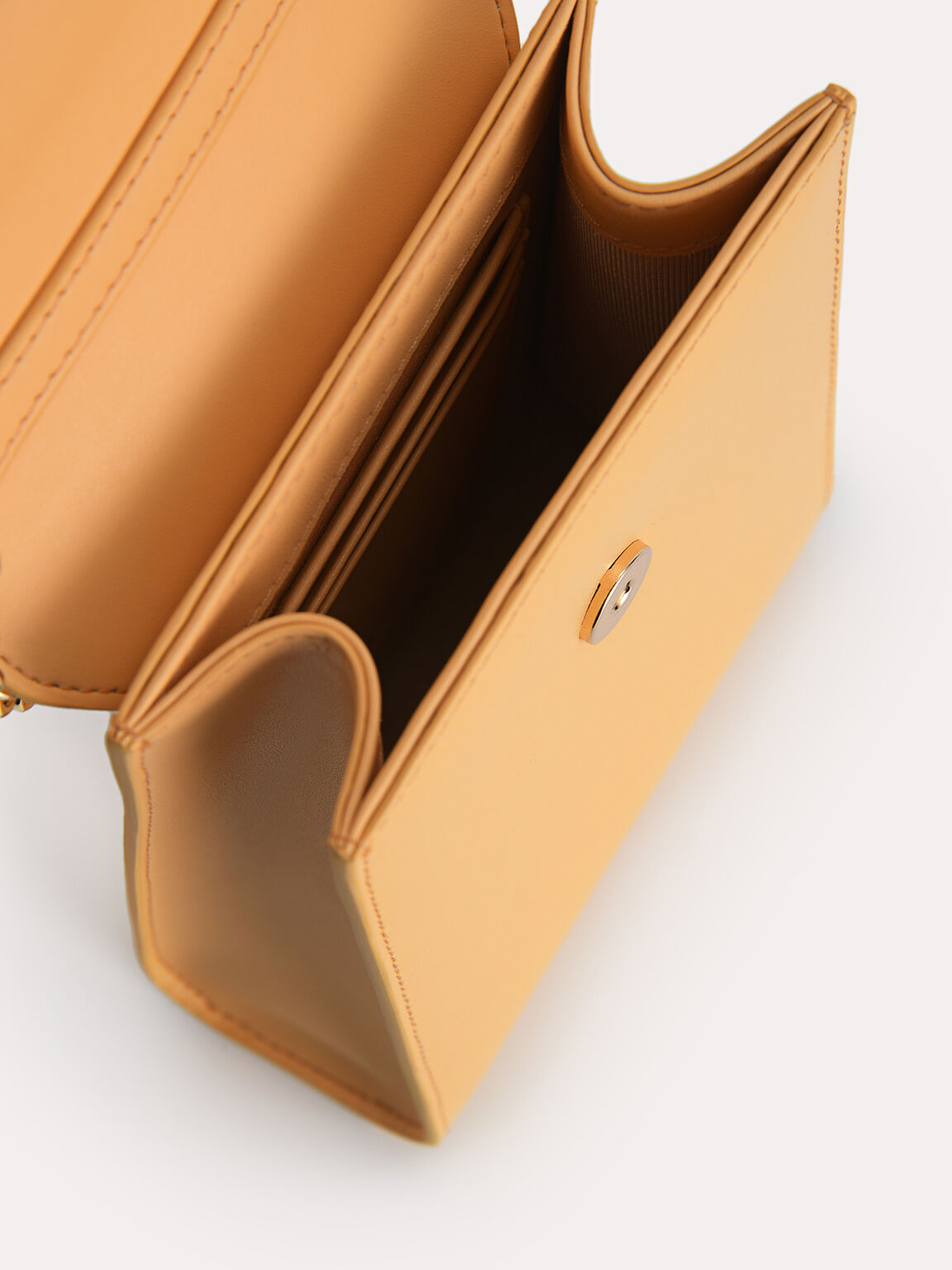 Leather Phone Pouch, Yellow, hi-res