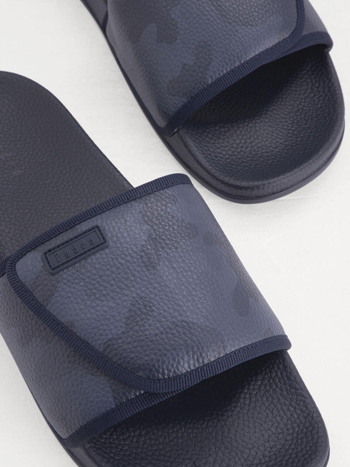Camo-Effect Sliders, Navy, hi-res