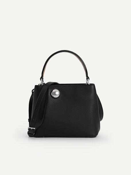 Orb Top Handle Bag, Black, hi-res