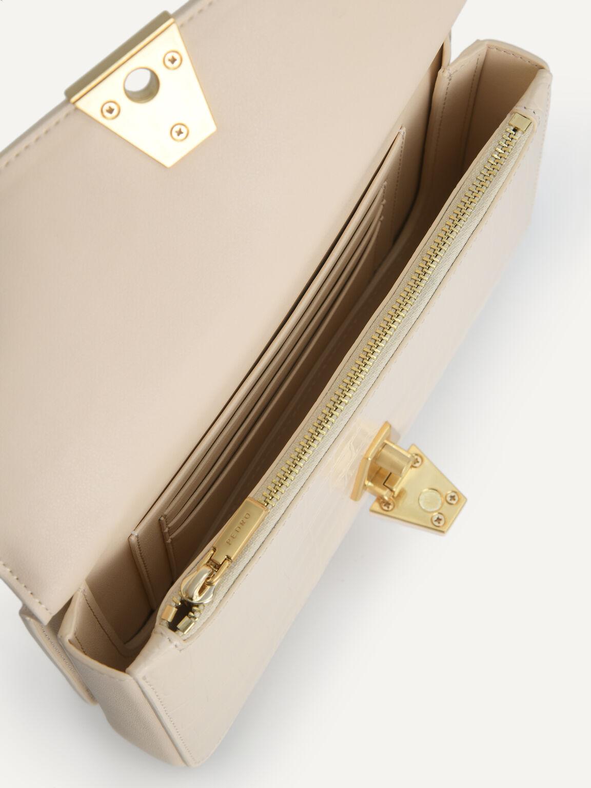 Textured Leather Travel Organiser, Beige, hi-res