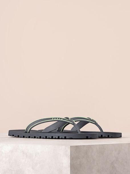 Casual Thong Sandals, Dark Grey, hi-res