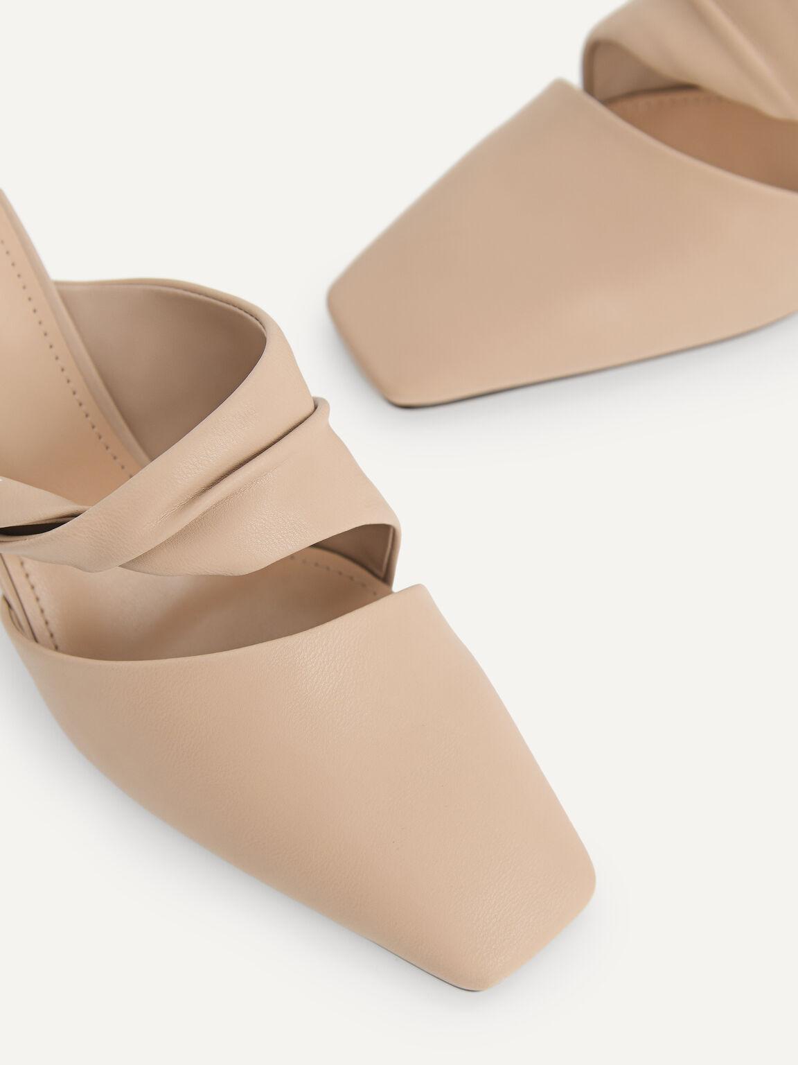 Square-Toe Heels, Taupe, hi-res