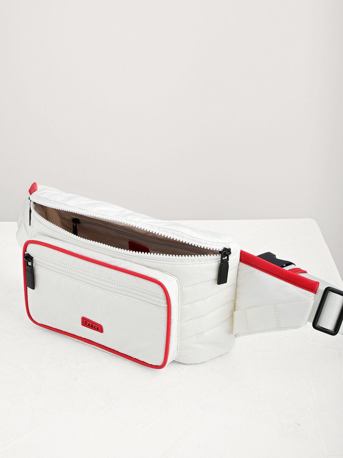 Casual Belt Bag, White, hi-res
