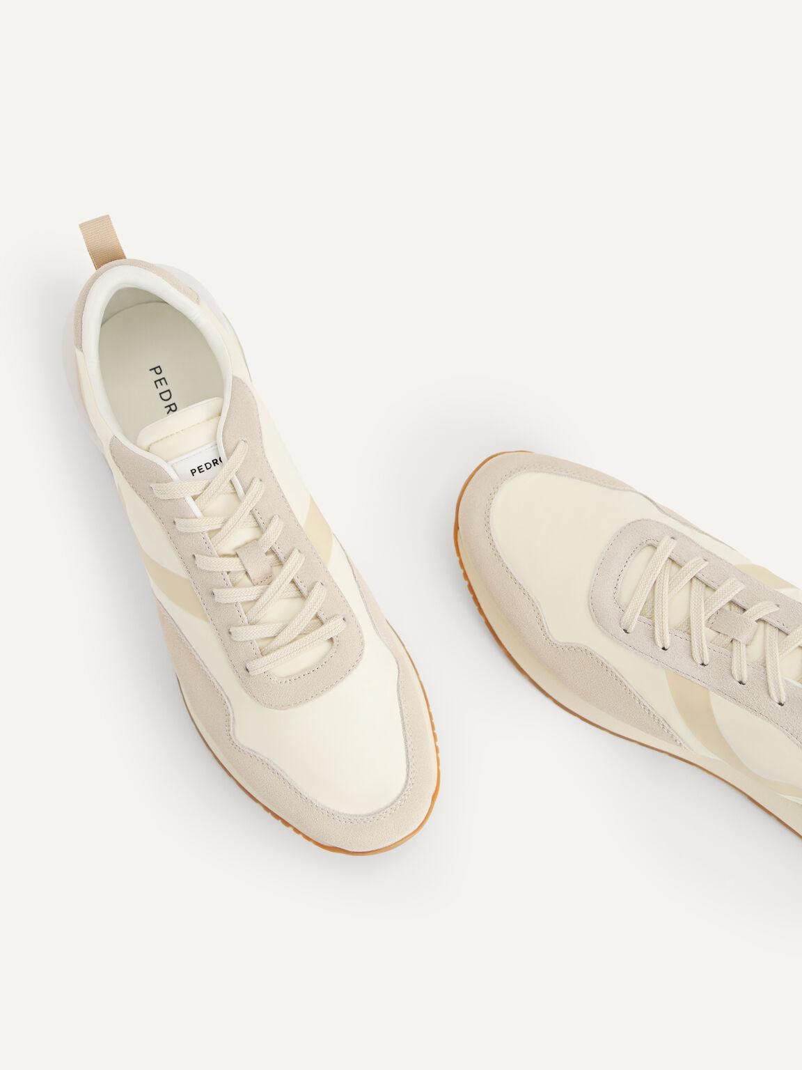 Monochromatic Suede Sneakers, Beige, hi-res