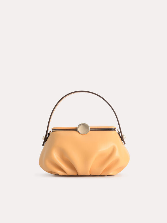 Pillow Top Handle Bag, Yellow, hi-res
