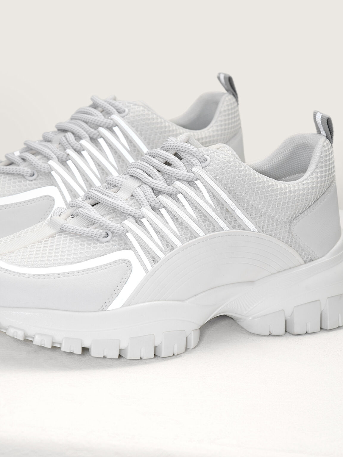 Chunky Casual Sneakers, White, hi-res