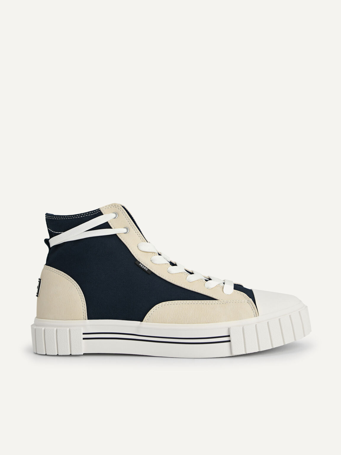 Beat Lace-Up Sneakers, Navy, hi-res