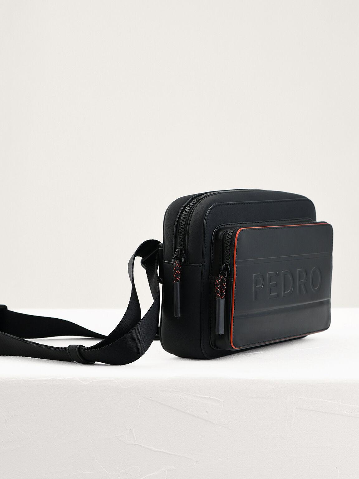 Casual Sling Bag, Black, hi-res
