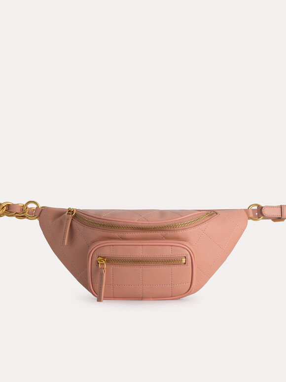 Quilted Sling Bag, Nude, hi-res