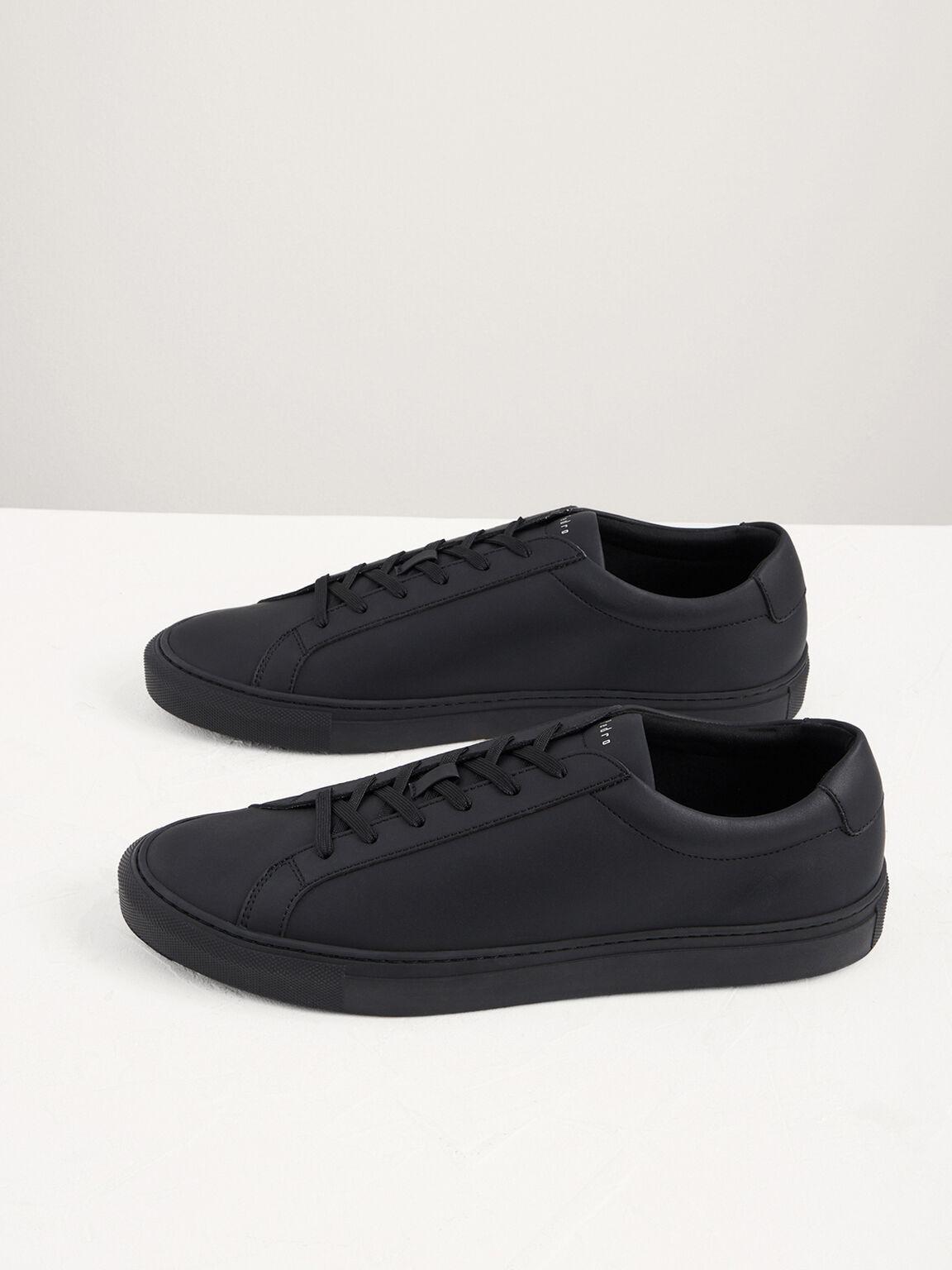 Casual Court Sneakers, Black, hi-res