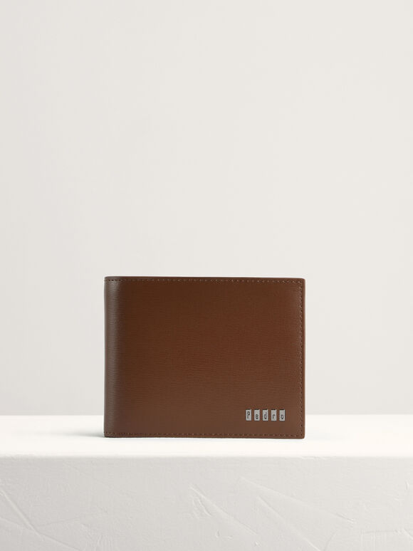 Leather Bi-Fold with Flip, Cognac, hi-res